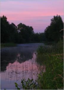 Отражение заката на востоке