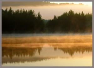Рассвет на запруде притока р.Дубна