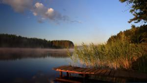 Солнечное утро на озере Долгое Тверская губерния. Июль 2013г. Этим дождливым летом, как ни странно - на северном направлении погода была более летняя, чем на южном ))))...